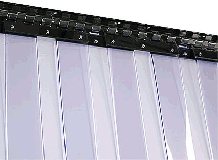 Kurtyny paskowe rozsuwane z pasów standard 3 x 300 mm